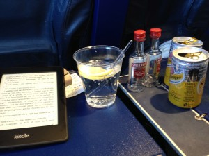 Survival kit for use in BA economy seat